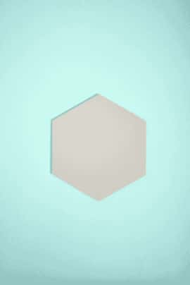 GREY HEXAGON WALL PANEL