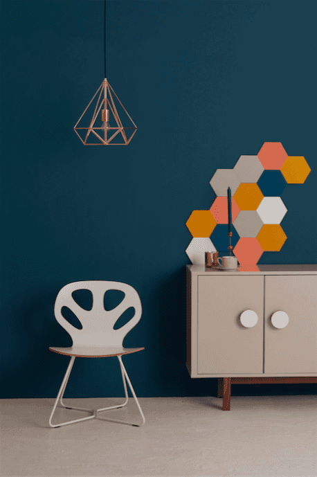 MUSTARD HEXAGON WALL PANEL