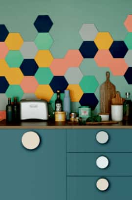 MINT HEXAGON WALL PANEL