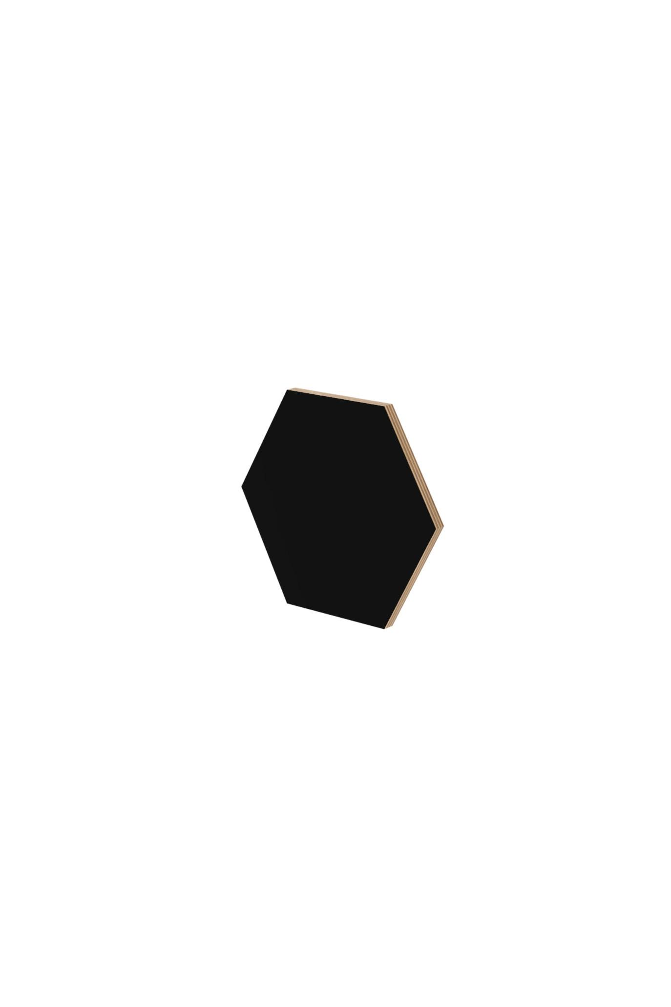 Panel ścienny hexagon czarny