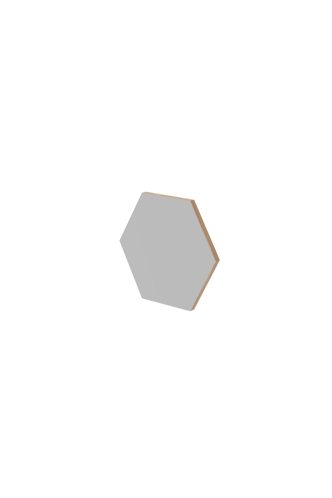 Panel ścienny hexagon szary